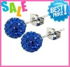 shamballa crystal studs earrings usa clay crystal stud earring