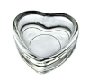 clear heart-shape candle holder cup