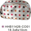 2011 colourful Satin & pvc cosmetic clutch bag for women