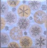 Colorful printed Snowflake Paper Napkin