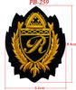 High quality Handmade Bullion Wire R Embroidery Patch