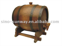 antique and decorative wooden barrel for beer