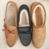 Warm genuine leather shoes for women