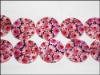 vivid flower pattern shell jewelry beads