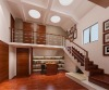Modern style solid wood stair