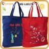 100% cotton canvas tote handbag