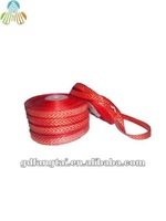 red gold nylon herringbone striped webbing uk