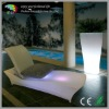 illuminated led pool chaise lounge