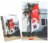 ice cream promotional package/beach flag banner/teardrop flag