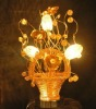 2012 beautiful flower basket wedding table lamp
