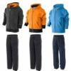 man fleece zip hoodied jogger tracksuit