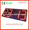 16inch remote control semi-outdoor red wall clock