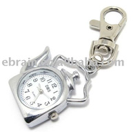 Water Jug Pendant Metal Pocket Watch with Keychain