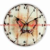 Top Sellers! D30cm! Round cheap hanging wall quartz antique butterfly fancy glass kitchen clock