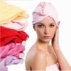 Microfiber warp kintting toweling hair drying cap for ladies