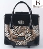 2011 lady leather luggage tiger skin leather luggage 8562
