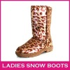 Hot Sale winter snow boots Leopard fashion lady boots