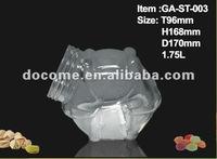 1.5L-5L large food grade decorative glass storage jars