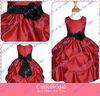 Custom Made Scoop Neck Sleeveless Satin Ball Gown Wedding Flower Girls Dress Cute Dresses For Girls