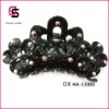 2012 Black Plastic Hair Clips with Flower Shape SC-13320