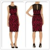 name brand women casual dress.red lace fashion dresses