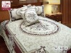 elegent design Jacquard textile /bedding set luxury/follwer pattern