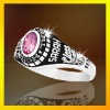 925 silver class ring with Cubic zircon 3D design ring