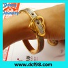 Plated Gold Tone Belt Buckle Handcuff Womens Bangle Bracelet for christmas