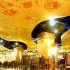 Decorative PVC stretch ceiling membrane for building materials