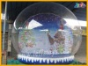 inflatable christmas snow globe with optional backgrounds