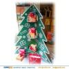 Christmas tree shape Christmas gift pos cardboard stand