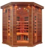 canada red cedar material FM/CD infrared sauna room
