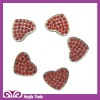 Heart Shape Alloy Buttoms with Siam Rhinestone for Shoes