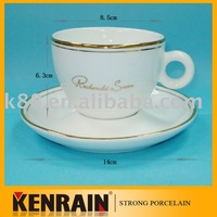 ceramic coffee cup and saucer/cappuccino cups