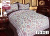 100% polyester suede bedding set with printed pattern