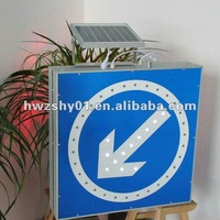 solar powered roadway sign