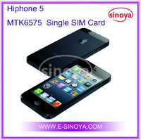 Hiphone5 for 4inch MTK6575 android 4.0 Single SIM Card