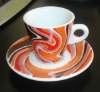 Super white irish coffee cup and saucer