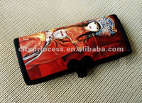 hand painted canvas ladies long wallets