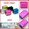 2012 fashion mini digital music box speaker with Compatible USB