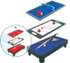 wooden 3-in-1 table game with table tennis,air hockey and pool table