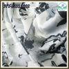 Rose pattern printed fabric for lady's garment chiffon satin fabric