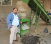 Biomass wood briquette machine
