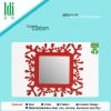 red Coral type ,Rectangle, modern metal mirror frame