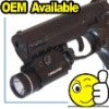 225 Lum tactical Electric torch with the mount por the rail