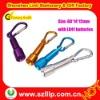 Aluminium led gift key chain for promotional