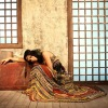 Retro bohemian 100% Chinese silk dress