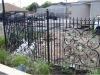 Blackyard metal fence designs