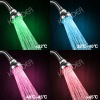 Hight Quality Bathroom Smart Water Temperature Detectable 4 Colors LED Shower