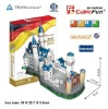 Neuschwanstein Castle 3d puzzle education city games kids